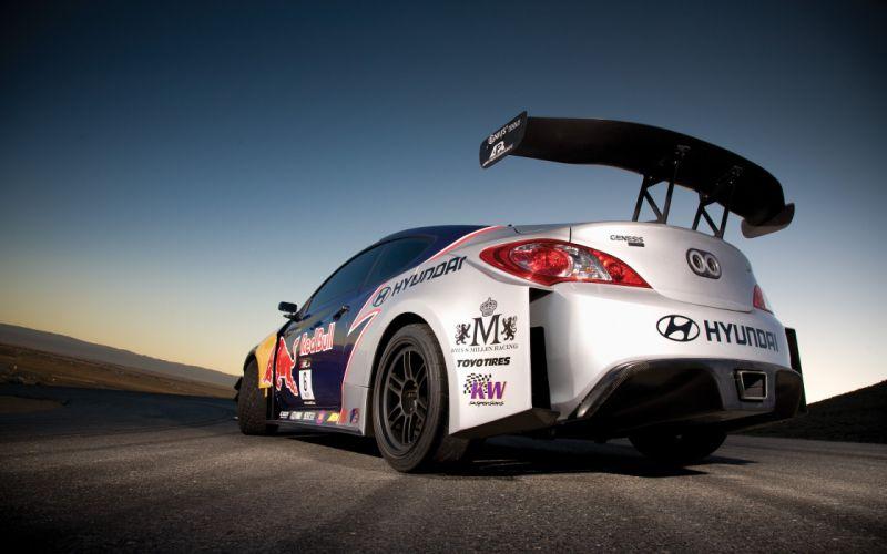 cars vehicles Hyundai Hyundai Genesis Coupe low-angle shot racing cars wallpaper