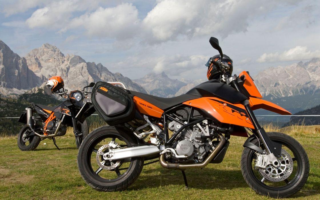 ktm motorbikes supermoto wallpaper