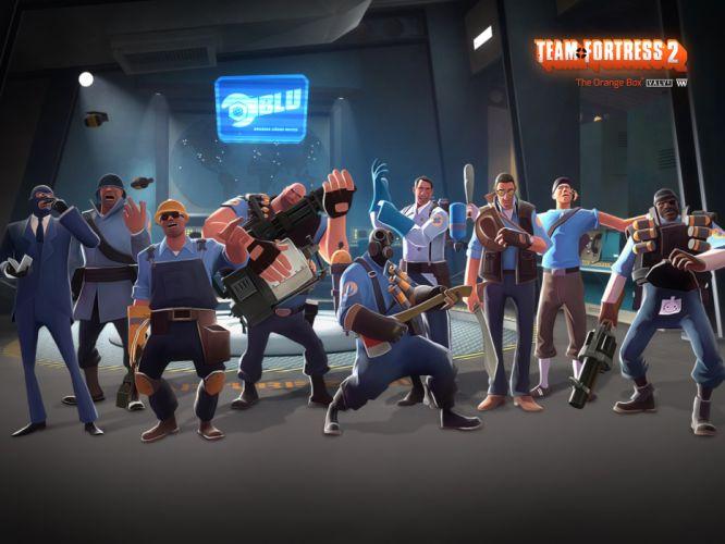 video games blue Blu team TF2 Team Fortress 2 wallpaper