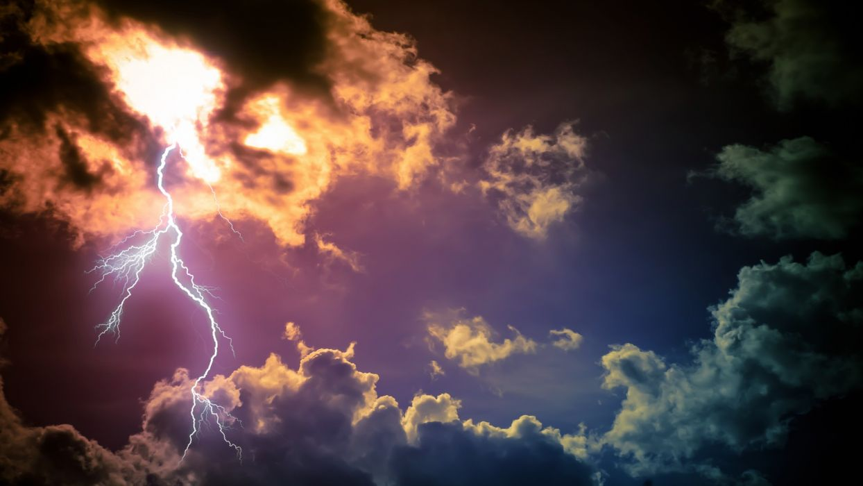 lightning skyscapes wallpaper