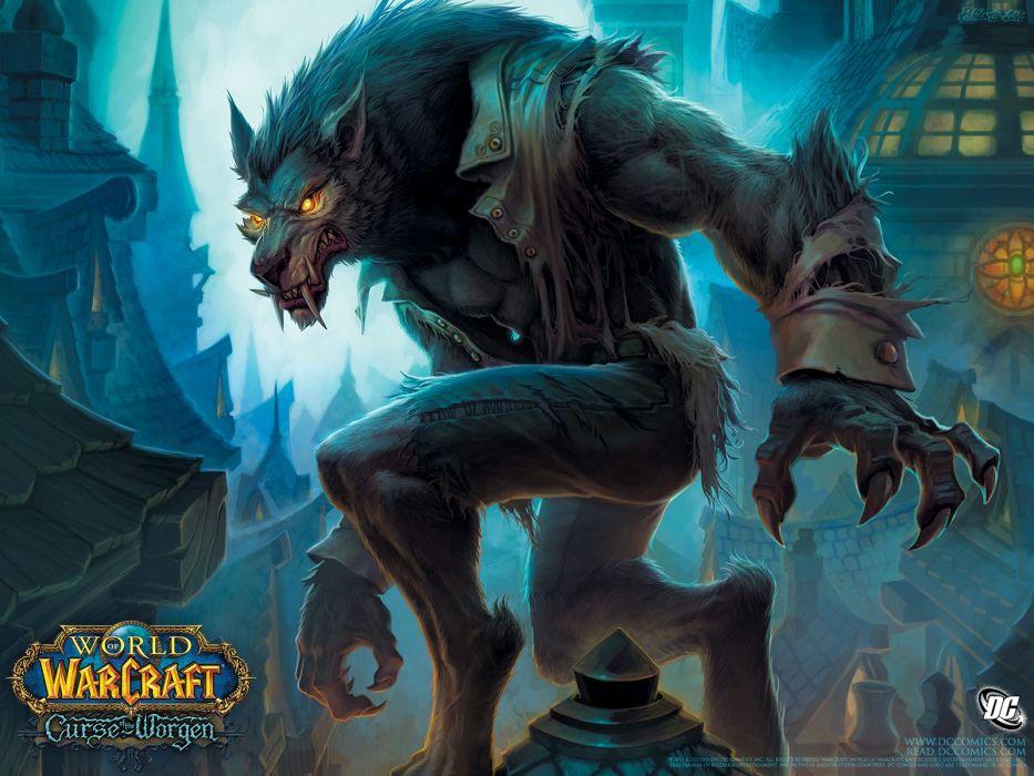 World of Warcraft comics werewolf Worgen World of Warcraft: Cataclysm Curse of the worgen wallpaper