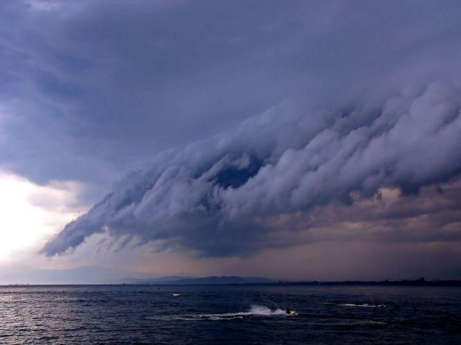 clouds storm wallpaper