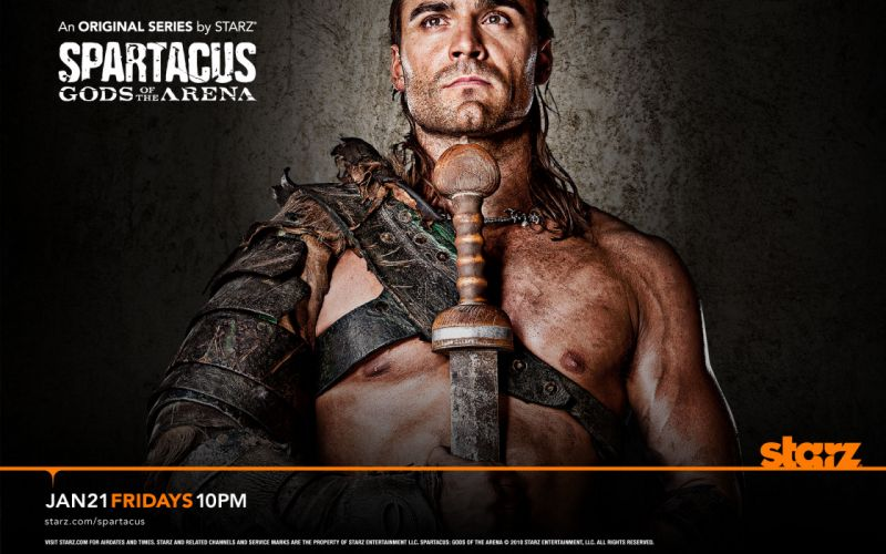 Spartacus: Gods of the Arena TV posters Dustin Clare wallpaper