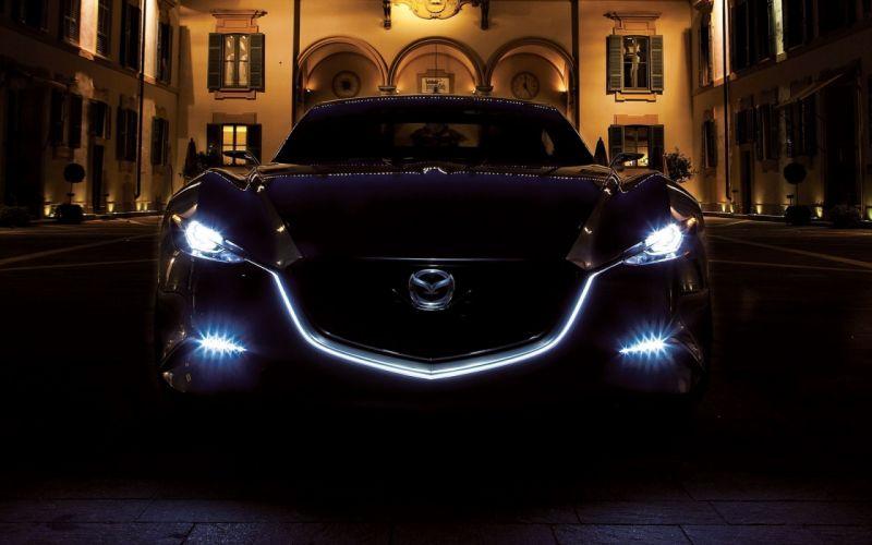 night cars Mazda wallpaper