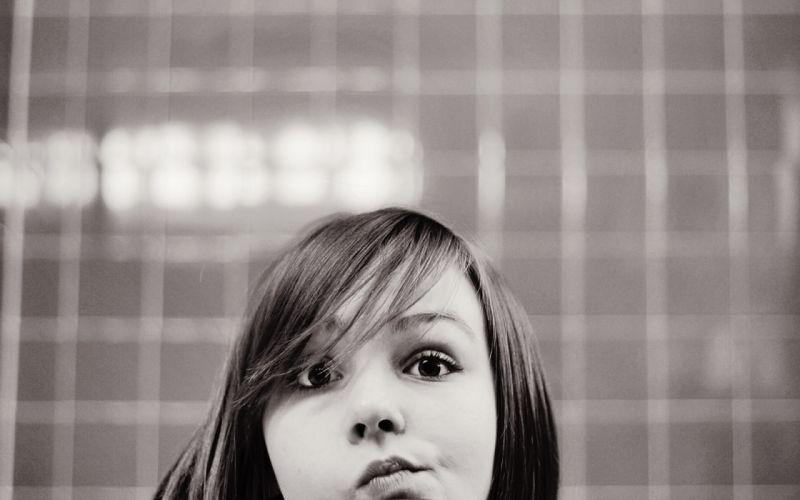 women grayscale monochrome faces Zara Jay wallpaper
