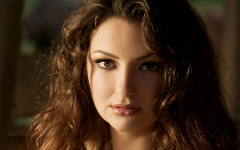 brunettes women close-up eyes brown eyes faces Amiee Rickards wallpaper