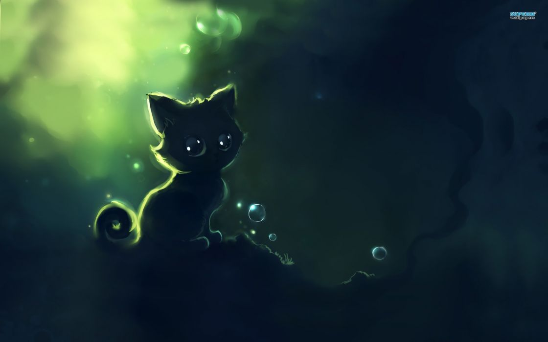 abstract cats Apofiss wallpaper