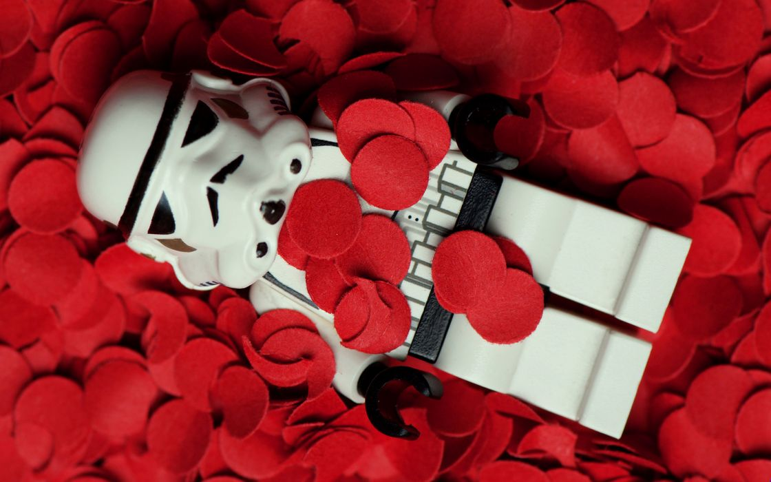 Star Wars flowers stormtroopers American Beauty Legos rose petals wallpaper