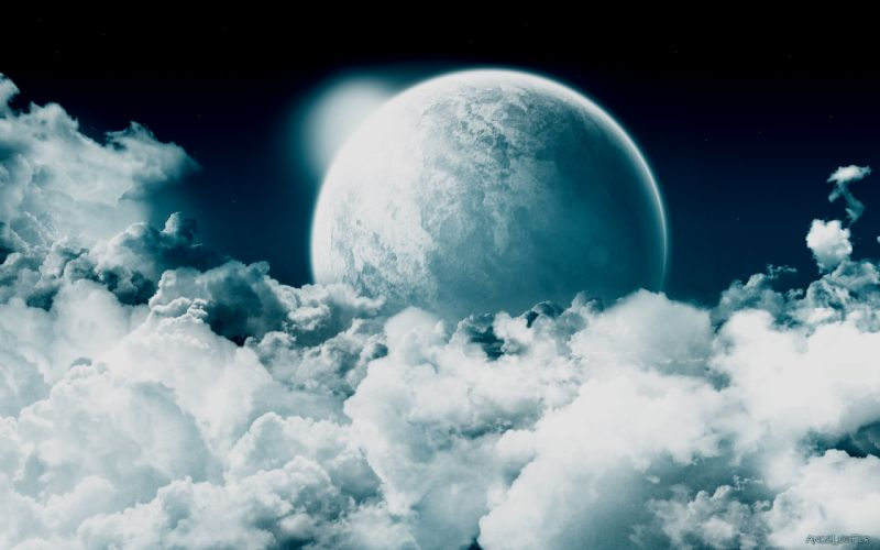 clouds planets skyscapes wallpaper