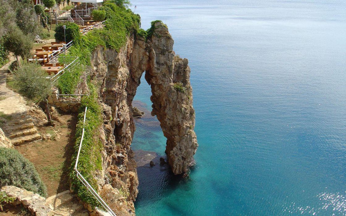 nature cliffs Cliff sea wallpaper