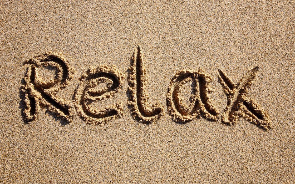 beach relax sand wallpaper