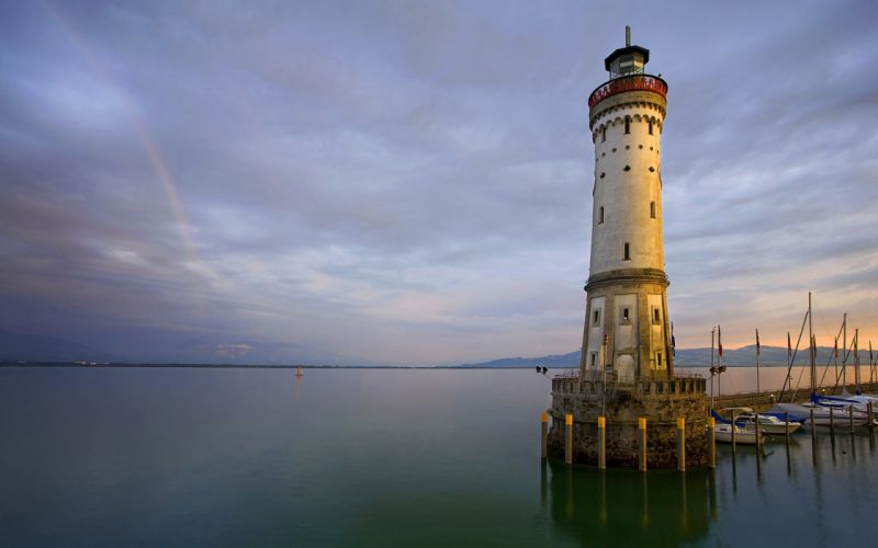 water landscapes lighthouses wallpaper