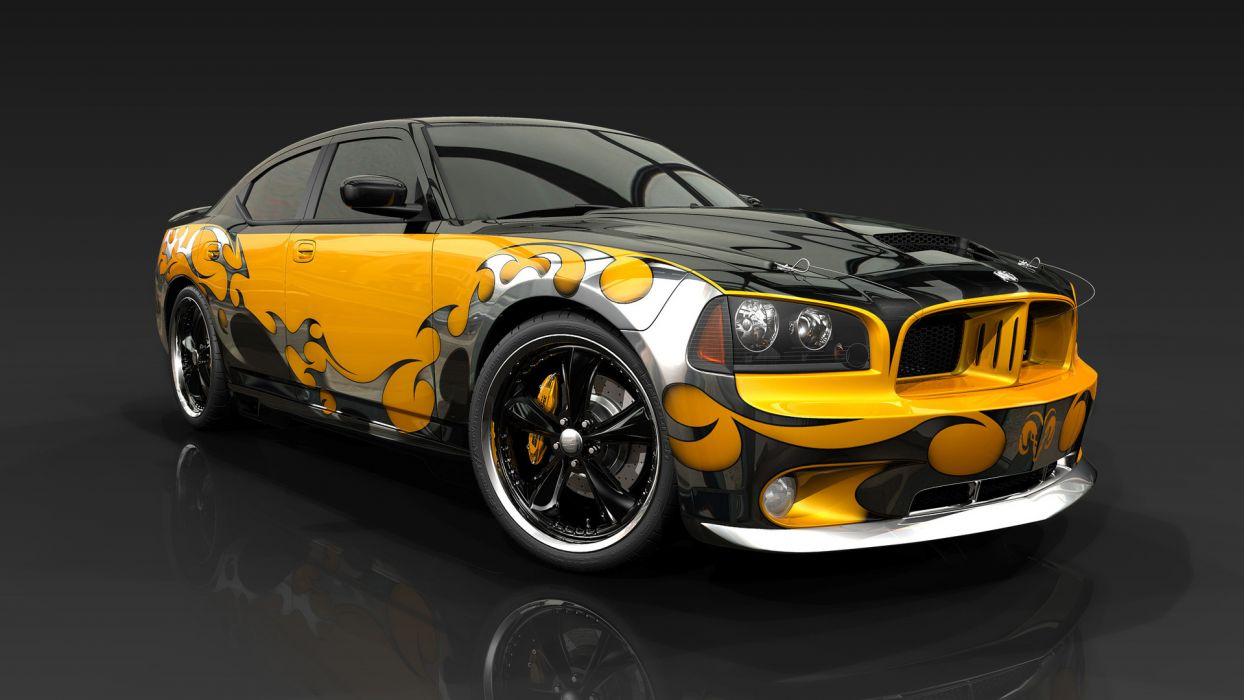 2013 Dodge Charger tuning muscle cars design graphic wallpaper