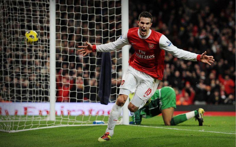 soccer Arsenal FC Robin van Persie wallpaper
