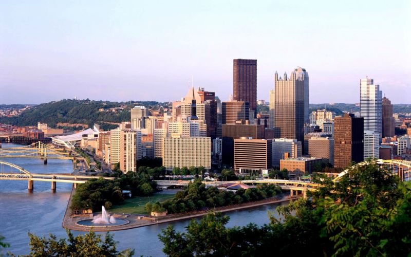 cityscapes buildings Pittsburgh wallpaper