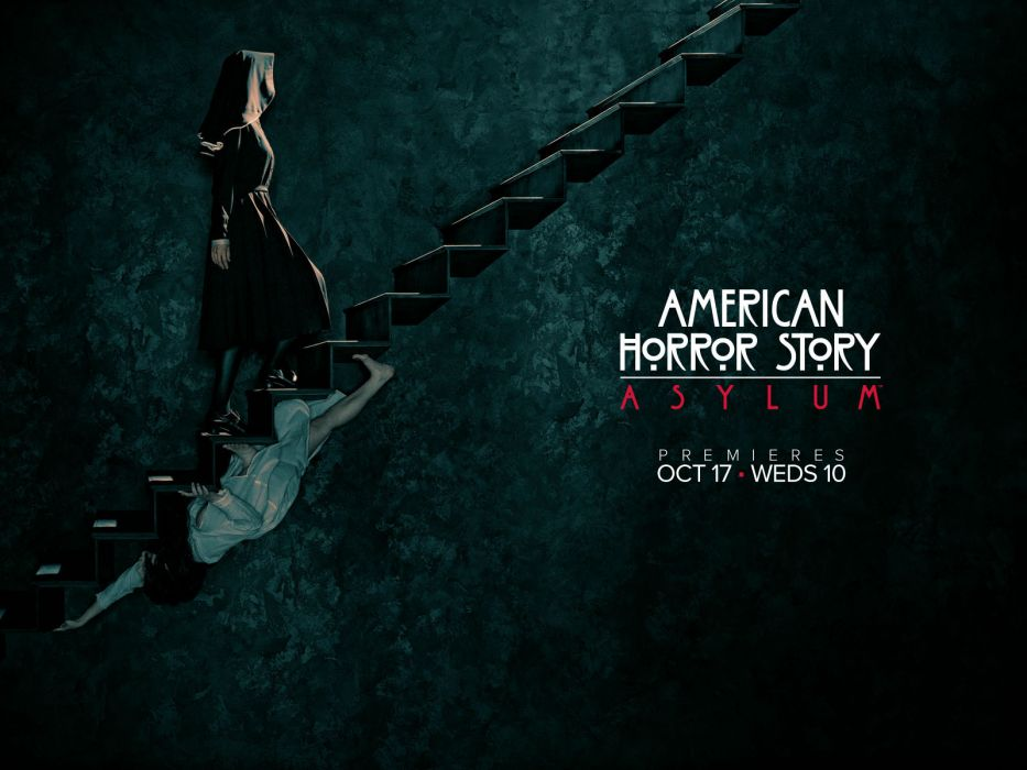 American Horror Story Asylum Creepy Stairs Nun Television