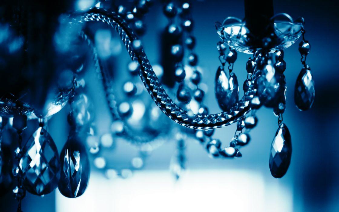 bokeh monochrome macro chandelier jewels wallpaper