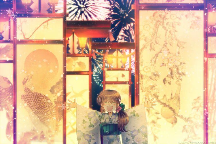 ascendancy fang fireworks japanese clothes original yukata wallpaper