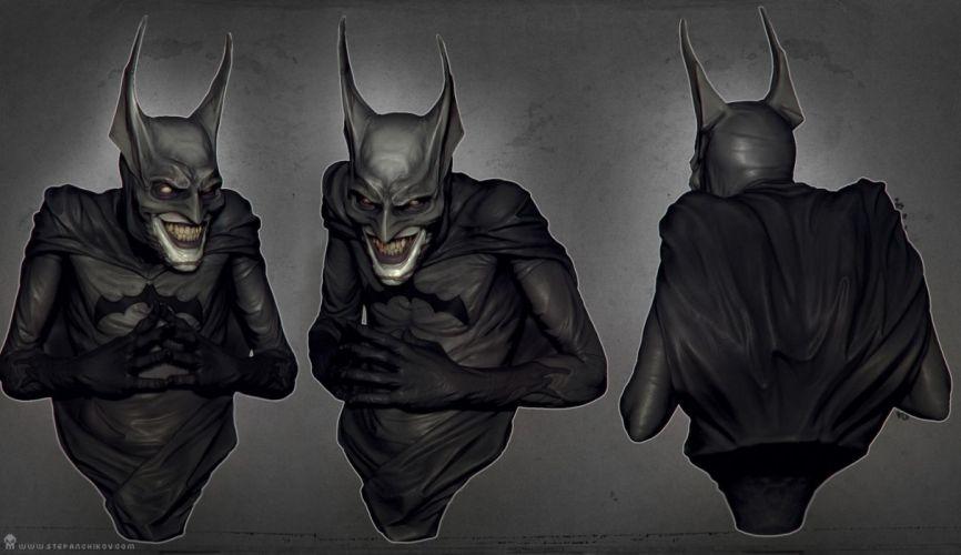 Batman Joker Creepy dark comics mask wallpaper