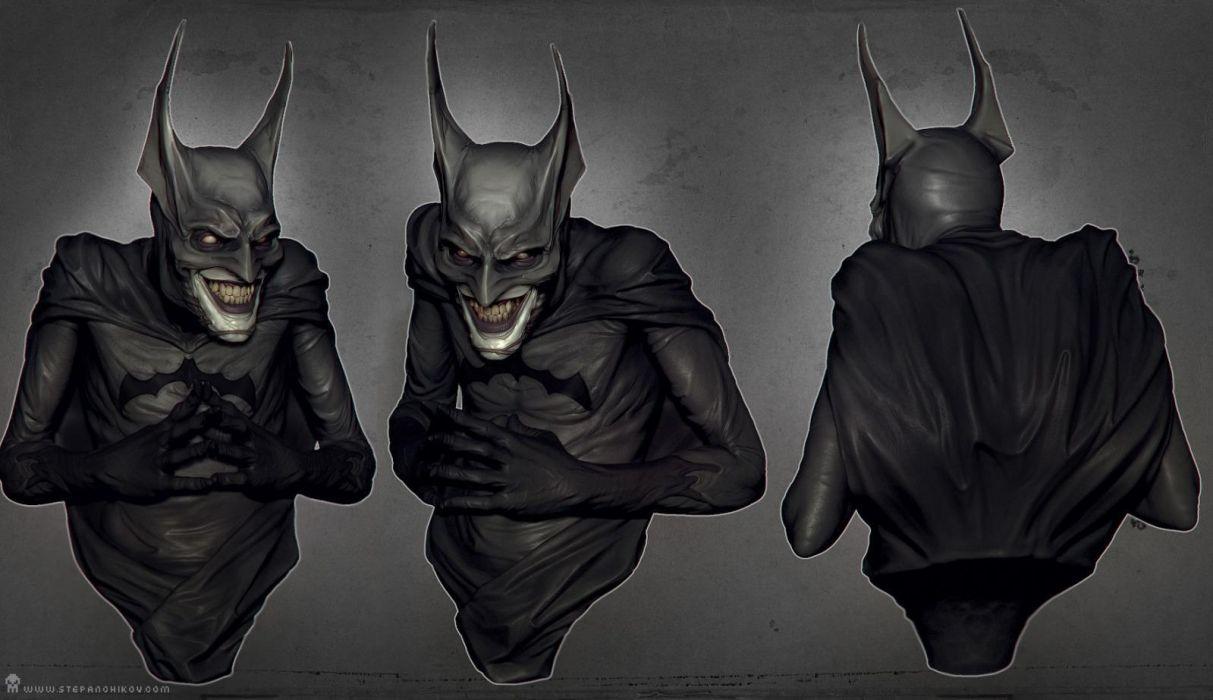 Batman Joker Creepy Dark Comics Mask Wallpaper 1600x923