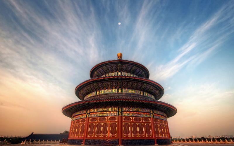 Beijing China buildings sky temple wallpaper