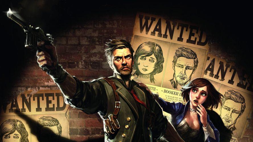 Bioshock Bioshock Infinite Wanted weapons guns pistol wallpaper