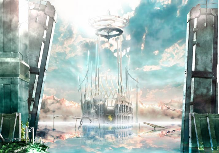 building clouds original rery rr23 scenic sky water wallpaper