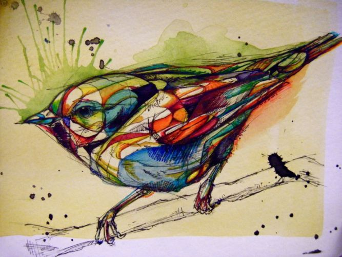 animals artwork birds wallpaper