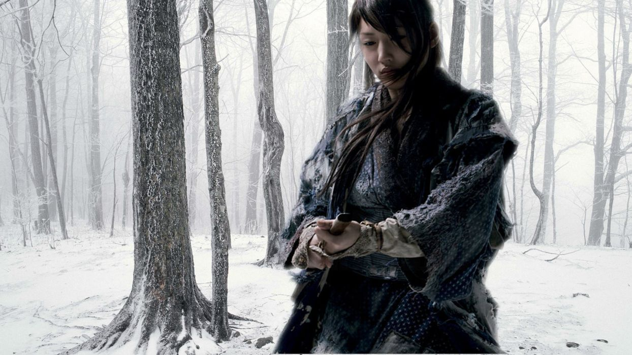 Japanese Female Rogue Winter Forest wallpaper