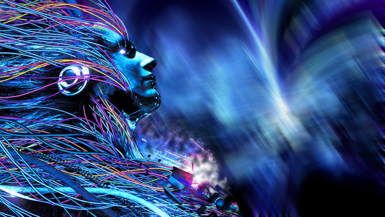 Dreaming Android Cyber Space wallpaper