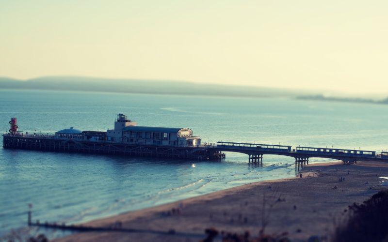ocean landscapes nature coast beach pier sea wallpaper