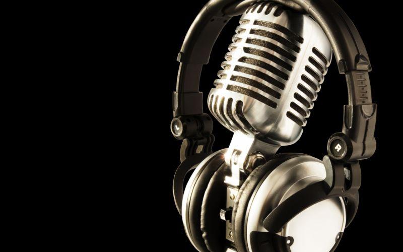 microphone headphones wallpaper