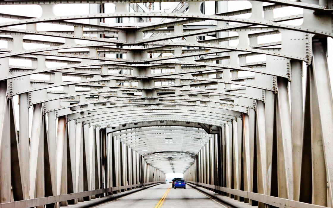 cars roads bridges pattern architecture wallpaper