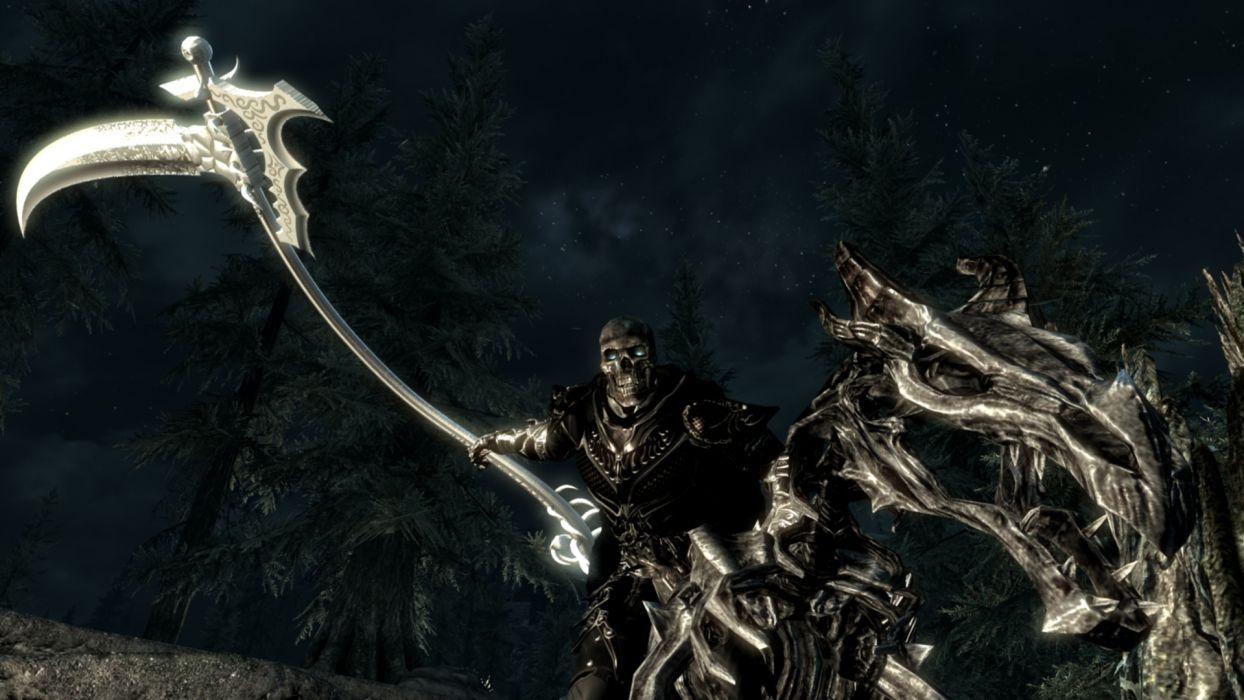 Dark Grim Reaper horror skeletons skull creepy        q wallpaper