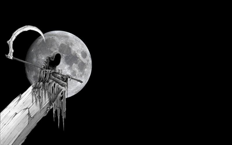 Dark Grim Reaper horror skeletons skull creepy e wallpaper