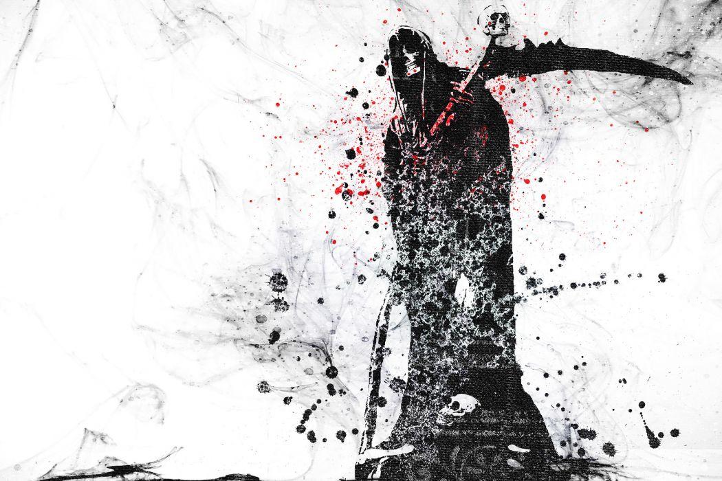 Dark Grim Reaper horror skeletons skull creepy       n wallpaper