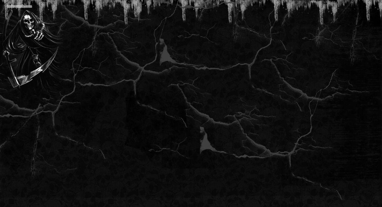 Dark Grim Reaper horror skeletons skull creepy       r wallpaper