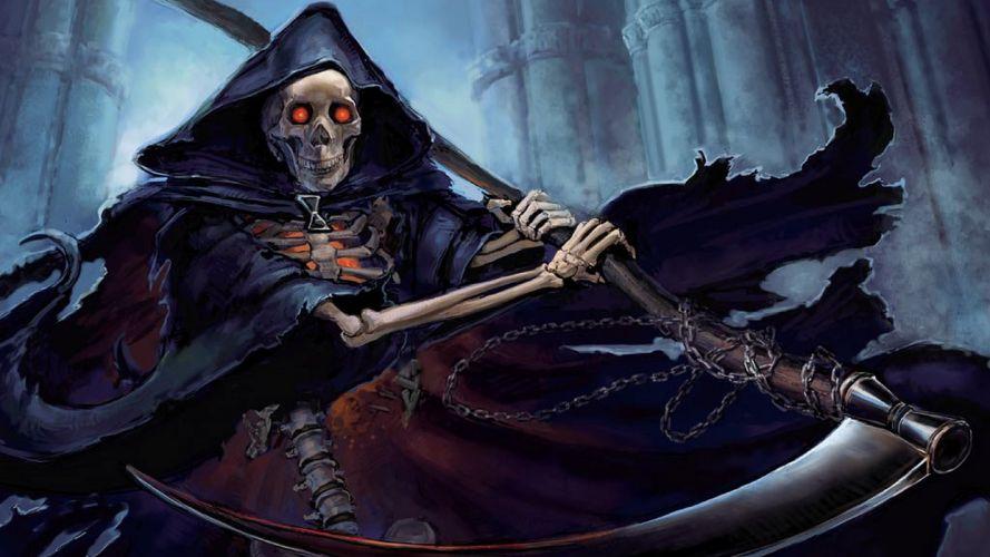 Dark Grim Reaper horror skeletons skull creepy f wallpaper