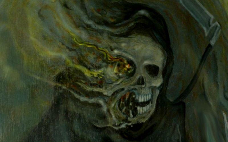 Dark Grim Reaper horror skeletons skull creepy g wallpaper
