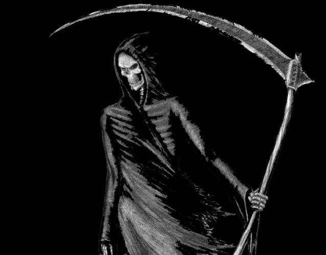 Dark Grim Reaper horror skeletons skull creepy wallpaper