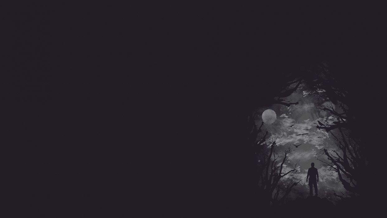 dark vector men males trees forest creepy wallpaper