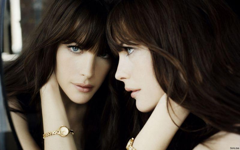 brunettes mirrors actress Liv Tyler wallpaper