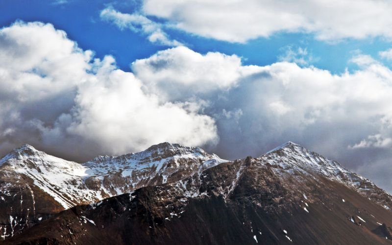 mountains clouds landscapes nature wallpaper