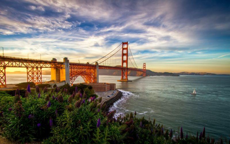 landscapes nature Golden Gate Bridge wallpaper