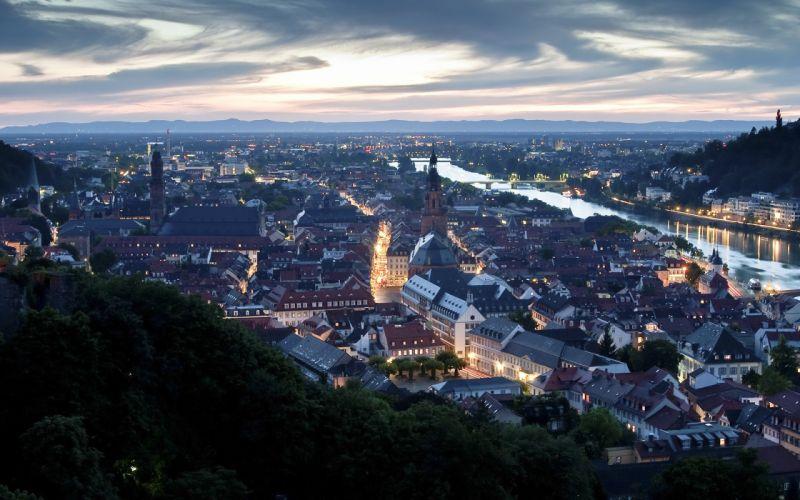 cityscapes Germany Heidelberg wallpaper