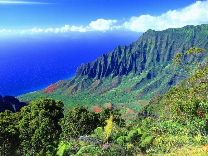 landscapes nature Hawaii wallpaper