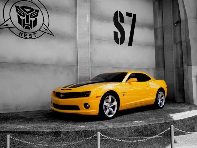 cars Bumblebee yellow cars transformer Camaro wallpaper