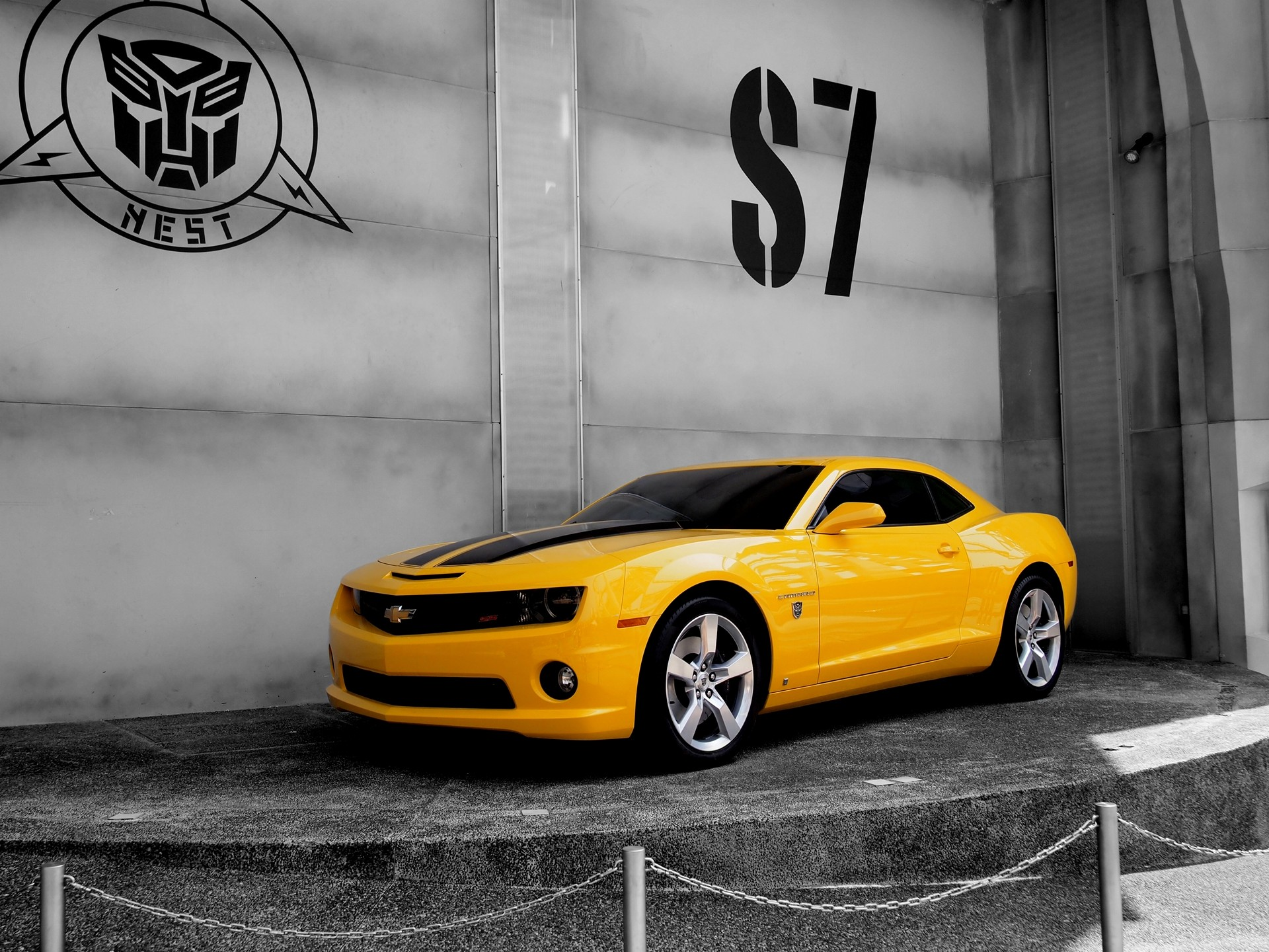 Cars Bumblebee yellow cars transformer Camaro wallpaper ...