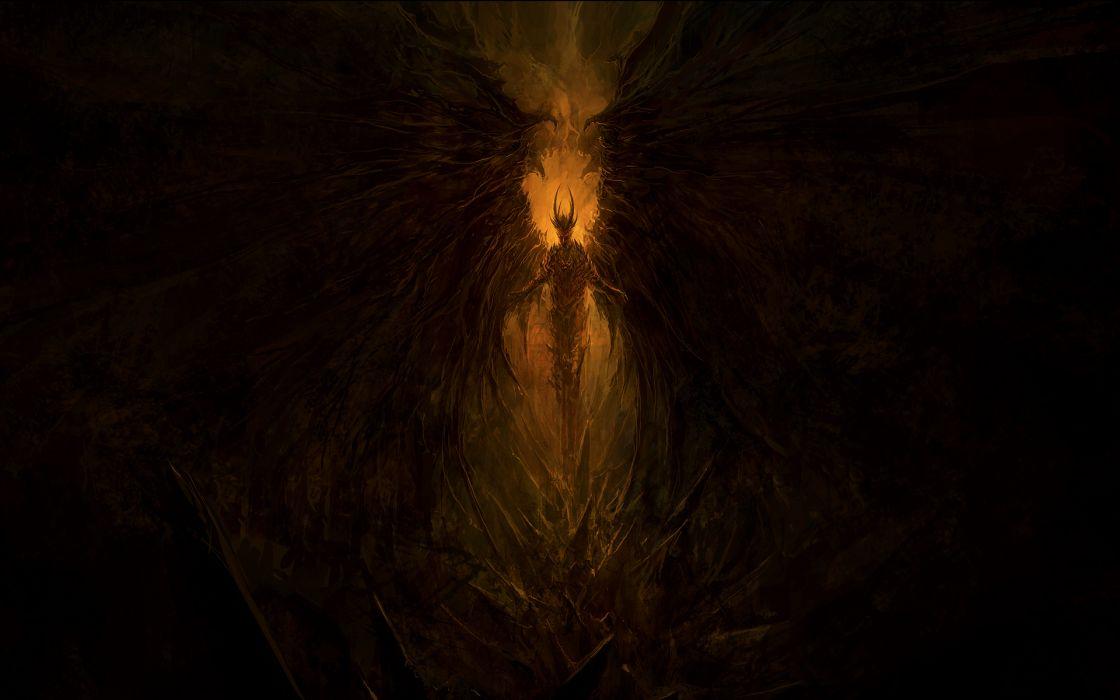 Demon Drawing Creepy Devil occult evil wallpaper