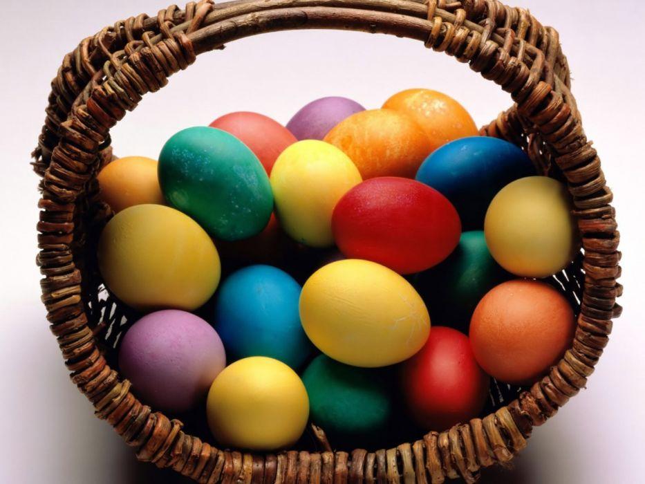 Easter egg basket wallpaper